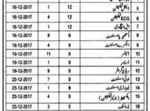 Mianwali Health Department Jobs 22 November 2017 (Total Jobs 113) The News
