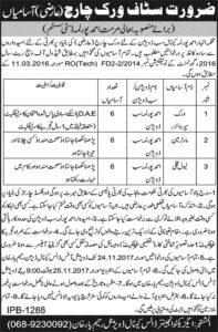 Irrigation Department Raheem Yar Khan Jobs (Total 18 Jobs) 14th November 2017 Nawaiwaqt