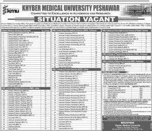 Khyber Medical University Peshawar The News Newspaper (Total Jobs 152) 30 November 2017
