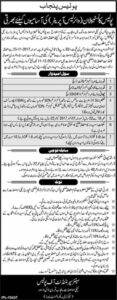 Punjab Police Constable Wireless Operator Jobs Jang Newspaper 24 November 2017