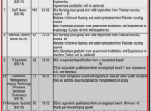 Lahore Postgraduate Medical Institute (Total Jobs 590) Dunya Express 26 November 2017
