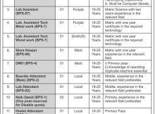 Islamabad Federal College of Education 18 Jobs Jang Newspaper 10 December 2017