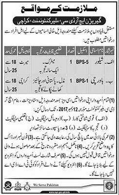 Karachi Garrison HRDC Cantonment 02 Jobs Dunya Newspaper 03 December 2017
