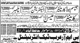 Carpainter Saudi Arabia Jobs Express Newspaper 23 December 2017