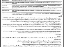 Rajan Pur District Education Authority, Educators and AEO's 291 Jobs 29 December 2017 Khabrain Newspaper