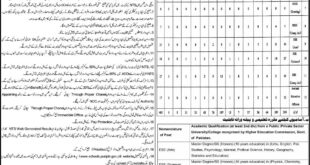 Jhang District Education Authority, Educators and AEO's 485 Jobs 28 December 2017 Express Newspaper