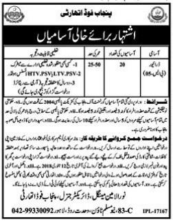 Punjab Food Authority 20 Jobs 25 December 2017 Daily Jang Newspaper
