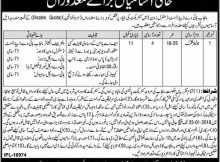 Punjab Highway department 04 jobs of Junior clerk 22nd December 2017 Dunya Newspaper