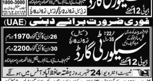 Security Guard Abu Dhabi Jobs Express Newspaper 09 January 2018