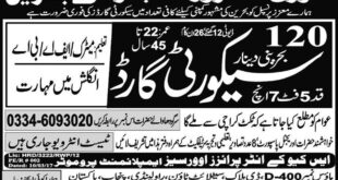 Security Guard Jobs Bahrain Express Newspaper 08 January 2018