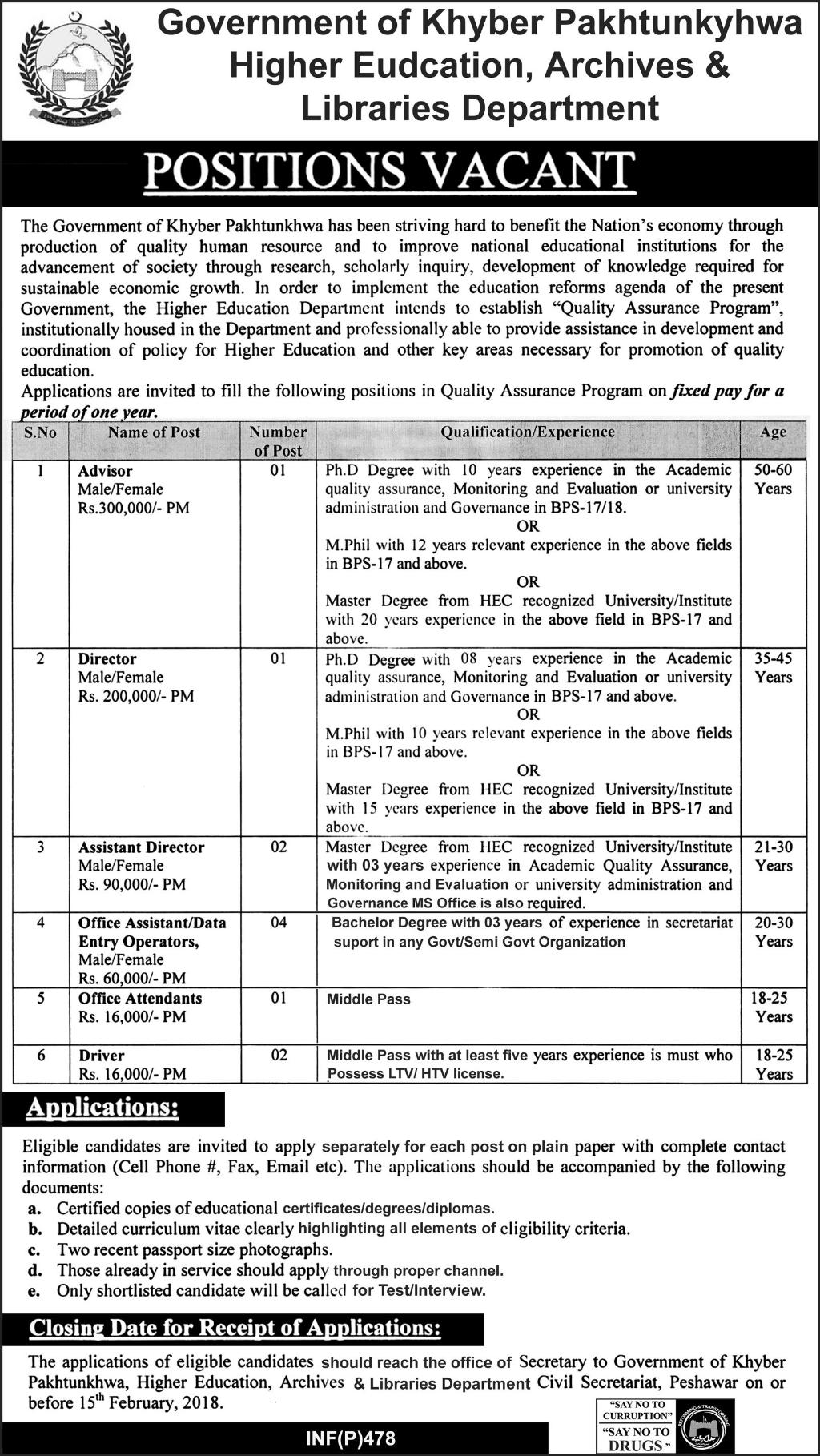 Higher Education archives & Libraries Department 11 jobs 29 January 2018, Daily Express Newspaper