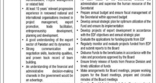 Ministry of Commerce and Textile Jobs Islamabad Jang Newspaper 20/01/2018