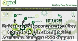 Pakistan Telecommunication Company Limited Islamabad Jobs 11 January 2018