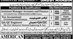 Middle East Saudi Arabia Jobs Express Newspaper 06 January 2018