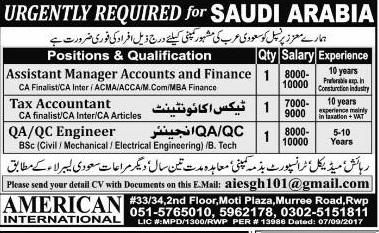 Middle East Saudi Arabia Jobs Express Newspaper 06 January 2018