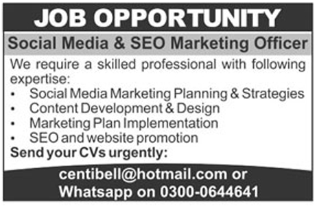 The News Newspaper Social Media  Seo Marketing Officer Jobs
