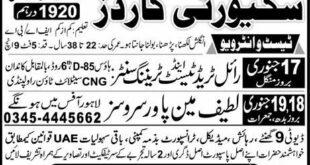 Security Guard Jobs Express Newspaper 03 January 2018