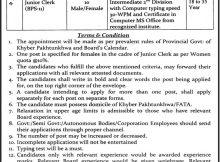 Kohat, Board of Intermediate and Secondary Education 19 Jobs, 18 January 2018 Daily Mashriq Newspaper