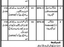 District Dir (Bala) Deputy Commissioner/Commandant Dir Levies 11 jobs 08 January 2018 Daily Mashriq Newspaper