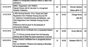 Lahore District Health Authority 41 Jobs, 03 January 2018 Daily Express Newspaper.