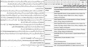 Nankana Sahib District Education Authority, Educators and AEO's 442 Jobs 11 January 2018 Express Newspaper