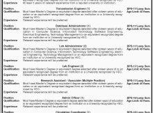 Dawn Newspaper Information Technology University Jobs 09 February 2018