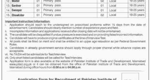 Pakistan Institute of Trade & Development 21 Jobs 27th February 2018 Daily Dawn Newspaper