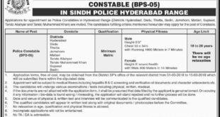 Sindh Police Jobs 27th February 2018 Daily Dawn Newspaper