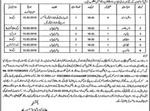 Directorate of Agriculture Sargodha Division 10 Jobs 12 February 2018 Daily Jang Newspaper.