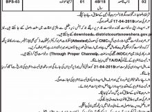 Jobs in Senior Civil Judge Courts Nowshera Daily Mashriq Newspaper 14 March 2018