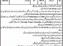 Jobs in Senior Civil Judge Courts Nowshera Daily Mashriq Newspaper 14 March 2018