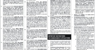 Jobs in Federal Public Service Commission 04 March 2018 Daily Mashriq Newspaper
