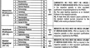 Jobs in Gujranwala Medical College 31 March 2018 Daily Jang