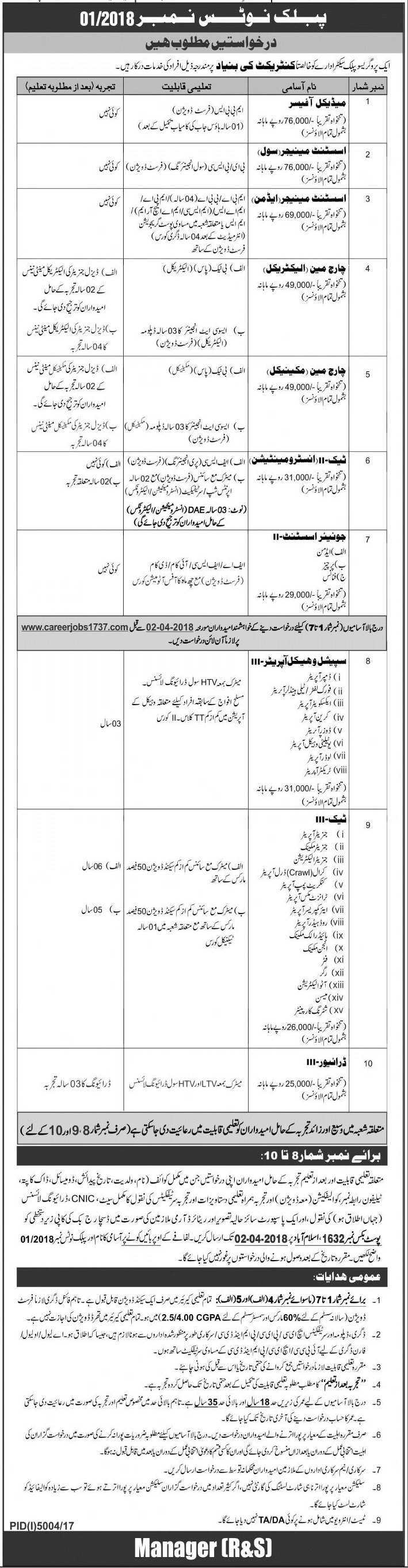 Public Sector Organization New Jobs Daily Jang Newspaper 18 March 2018