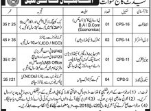Jobs in Cadet College Swat 04 March 2018 Daily Mashriq Newspaper