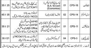 Jobs in Cadet College Swat 04 March 2018 Daily Mashriq Newspaper