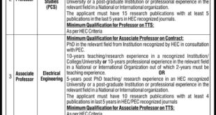 Jobs in National University of Modern Languages (NUML) Daily Express Newspaper 16 March 2018