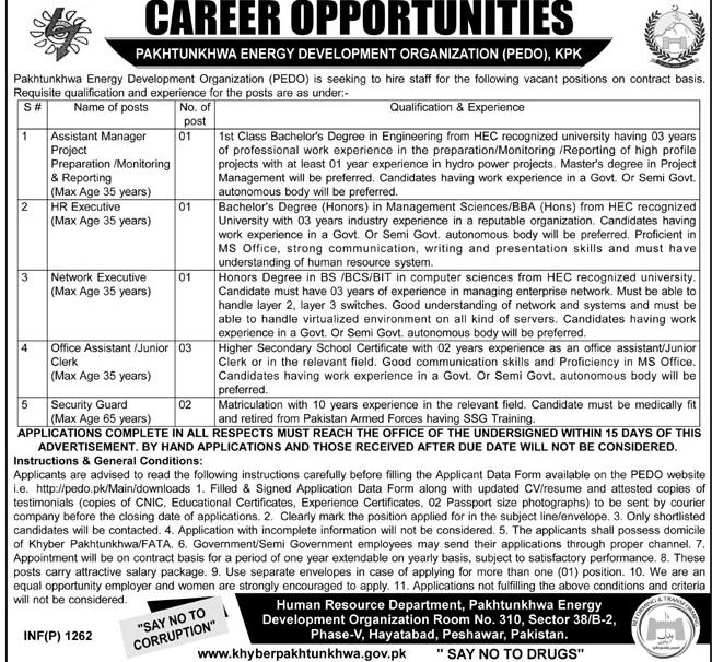 Jobs in Pakhtunkhwa Energy Development Organization Daily Mashriq Newspaper 13 March 2018