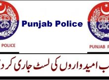 Punjab Public Service Announced Punjab Police Jobs Results 20/04/2018