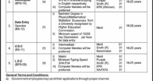 Jobs in Ministry of Parliamentary Affairs Daily Express Newspaper 12 April 2018