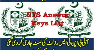 NTS Intelligence Bureau IB Jobs Answer Keys May 2018