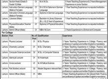 Express Newspaper Cantonment Board Lahore Jobs 10 May 2018