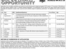 pak railway jobs in express newspaper 6 june 2018