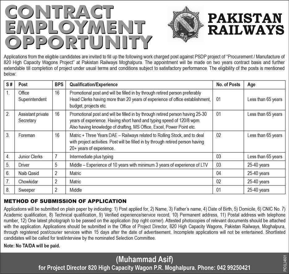 pak railway jobs in express newspaper 6 june 2018