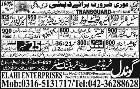 Labor Jobs Dubai Express Newspaper 19 September 2018