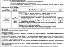 Punjab Jobs Primary & Secondary Healthcare 27 November 2018
