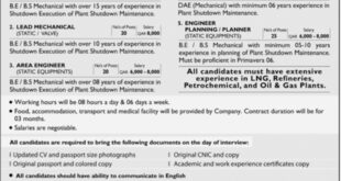 Qatar Jobs 20 December 2018 Descon Engineering Limited Jang Newspaper