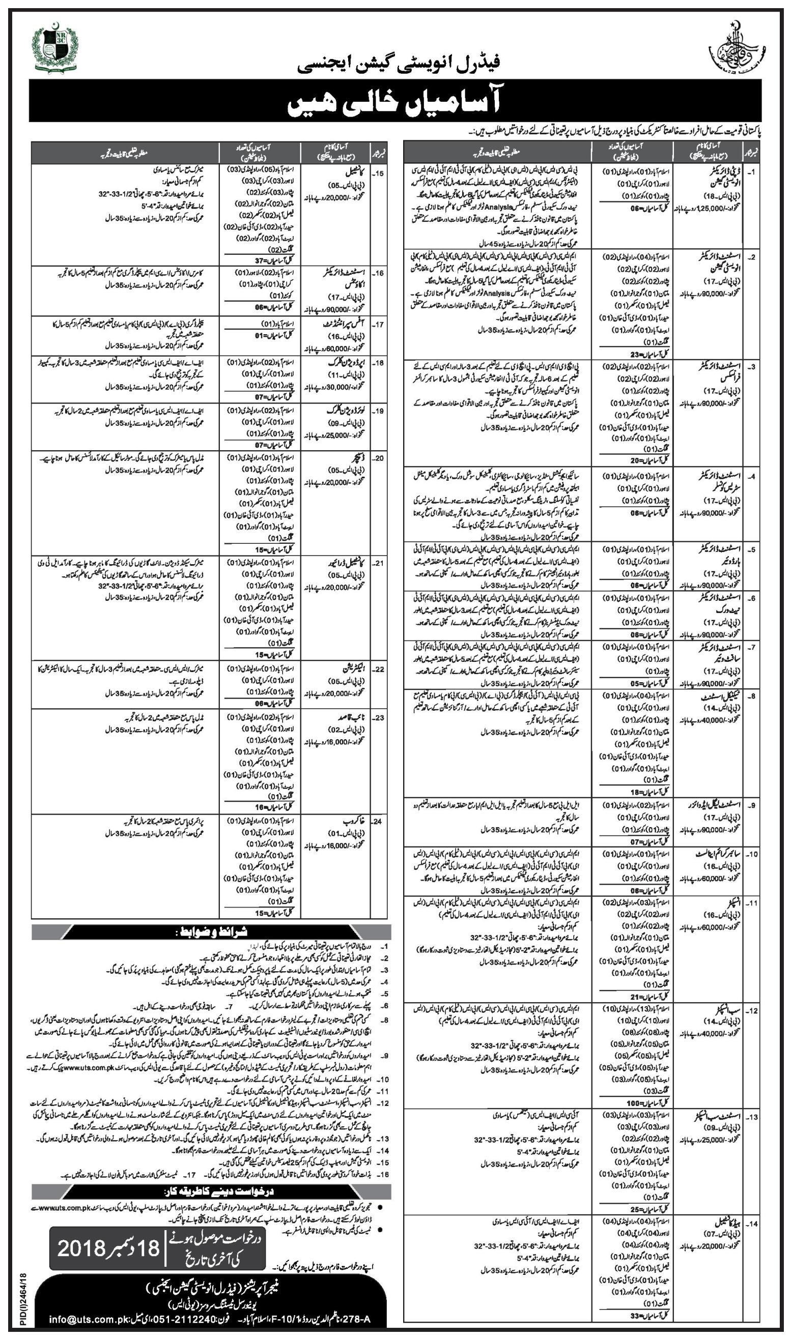 National Response Centre for Cyber Crimes (NR3C) FIA Jobs 02 December 2018