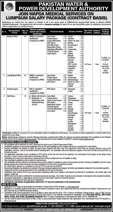 Dawn Newspaper Wapda Medical Services Jobs 16 December 2018
