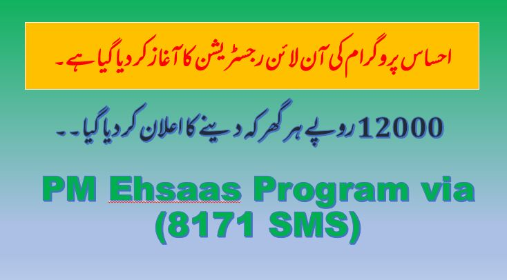 How To Apply Ehsaas Program via (8171 SMS)